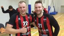 Lauris Rūtiņš (pa kreisi) un Guntis Ciematnieks