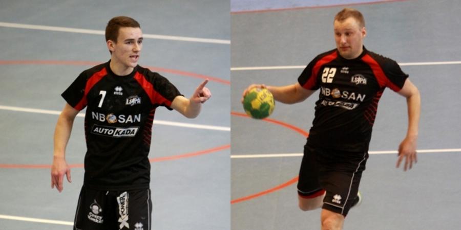 Rihards Leja (pa kreisi) un Lauris Rūtiņš (Foto: Sandra Škutāne)